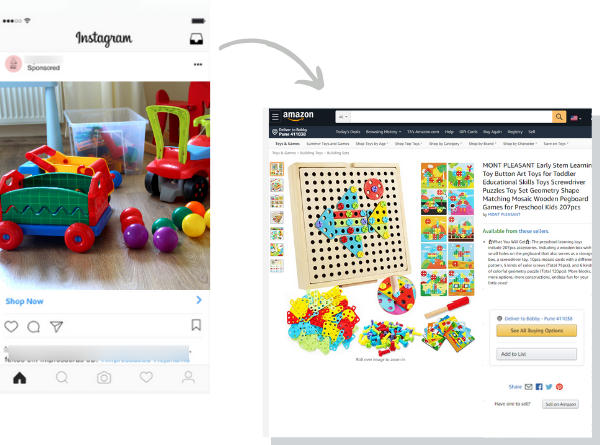 Instagram - Marketplace ads redirection